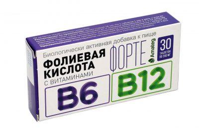 Folic acid forte with vitamins B6 and B12